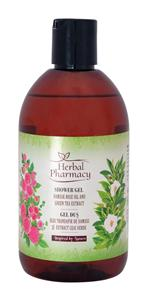 Gel de dus cu ulei de trandafir si extract de ceai verde Herbal Pharmacy 500 ml