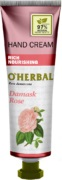 O'Herbal Crema maini  intens nutritiva  cu trandafir damask 30 ml
